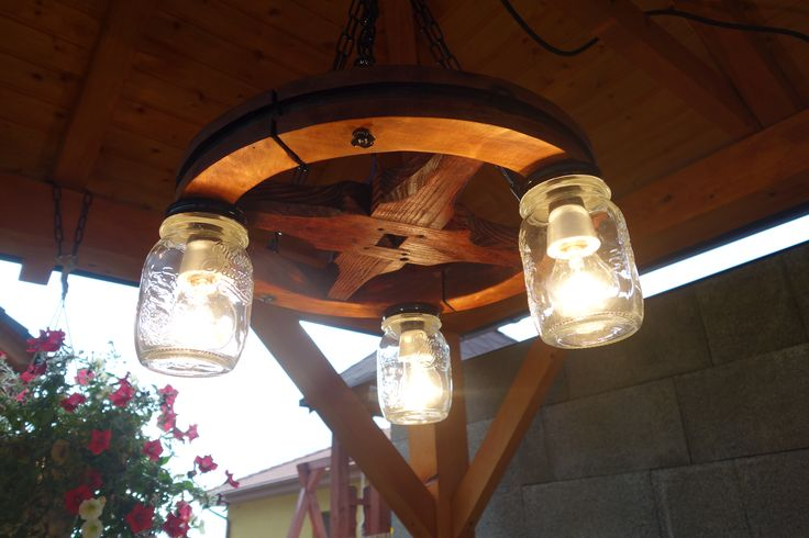 Country style wheel chandelier