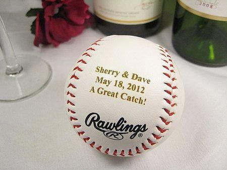 Personalized Engraved Baseball Wedding Bride Groom by engravingwiz, $15.99