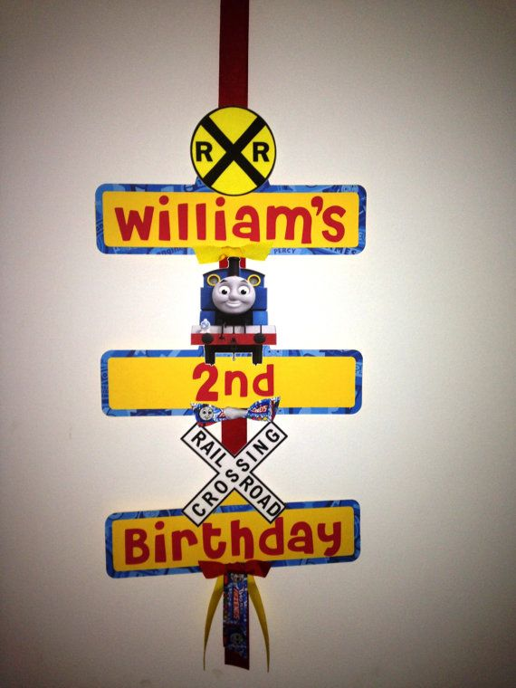 Thomas the tank Engine Party Sign by YourPartyShoppe on Etsy, $18.00