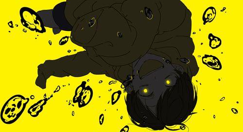 Osomatsu-san- Jyushimatsu #Anime「♡」Dark Neon yellow