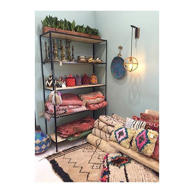 Stunning hand picked rugs from Morocco adorn the walls in @newrybarmerchants…