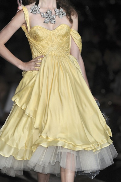 Dsquared²  #haute coutureFashion Weeks, Ball Gowns, Yellow Dresses, Mellow Yellow, Belle Dresses, Trendy Clothing, Clothing Stores, Haute Couture, Spring 2010