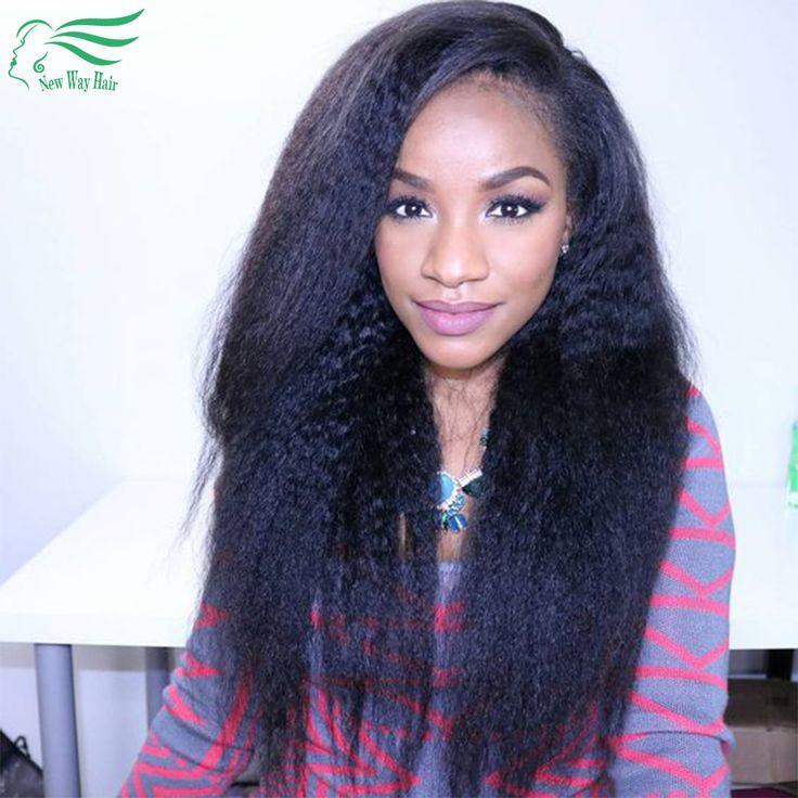 Peruklar Wigs 8a Glueless Full Lace Human Hair Wigs With Baby Hair Front Lace Wig For Black Women Kinky Straight Wig Lace Front Human Hair Wig * Bu bagli bir çam AliExpress oldugunu.  AliExpress web sitesinde ayrintili aciklamalar icin resme tiklayiniz