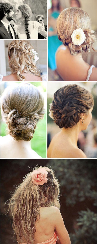 Свадебные прически косы с цветами, большая подборка фотографий #bride #wedding #braids #hair