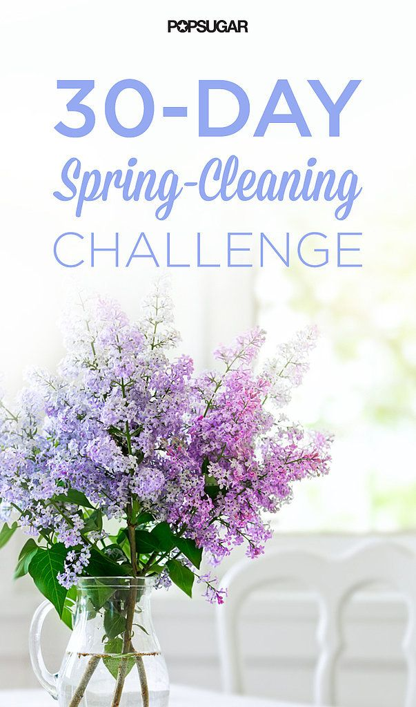 30-Day Spring-Cleaning Challenge For April! Comes with a PDF printable checklist.