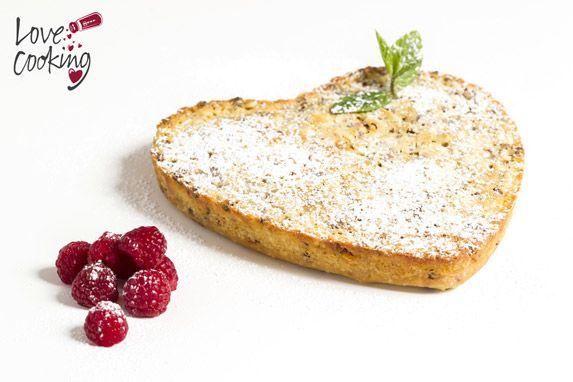 #Receta de brownie de chocolate blanco con frambuesas, un postre muy romántico para celebrar San Valentín
