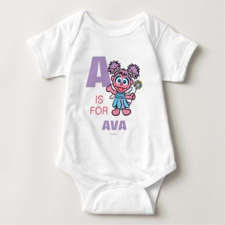 A is for Abby Cadabby | Add Your Name Baby Bodysuit - click to get yours right now!