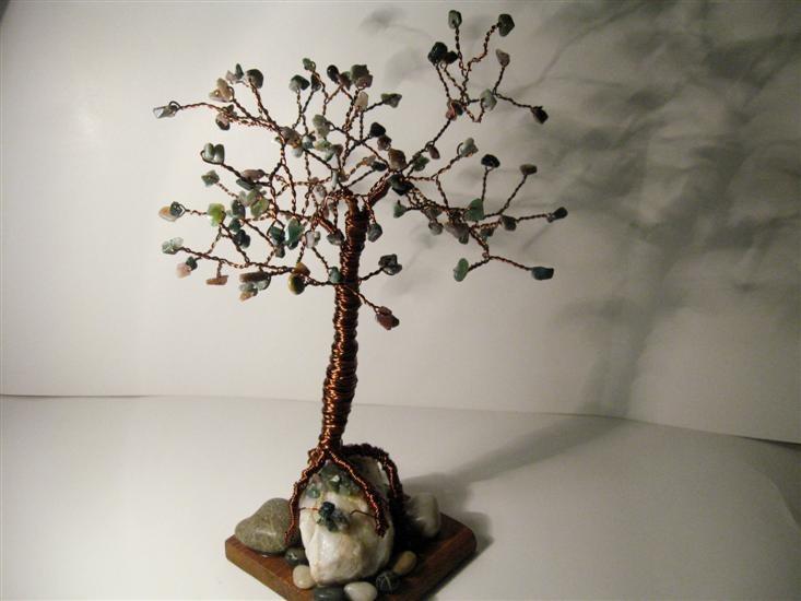 Indian agates 30 cm Copper Tree
