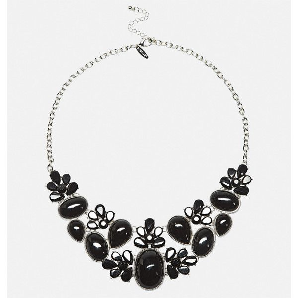 Avenue Jet Cab Statement Necklace ($9.60) ❤ liked on Polyvore featuring jewelry, necklaces, black, plus size, lobster clasp necklace, adjustable necklace, imitation jewellery, bib statement necklaces and imitation jewelry