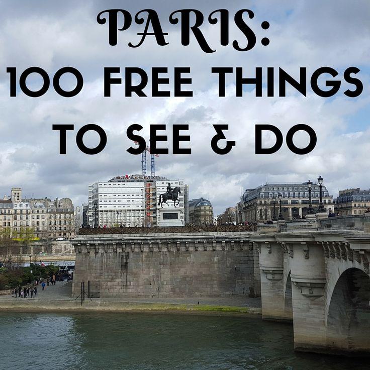 100 Free Things to See & Do in Paris!  #travel #Paris #Parisforfree #frugaltravel #gffamilytravel #traveltips