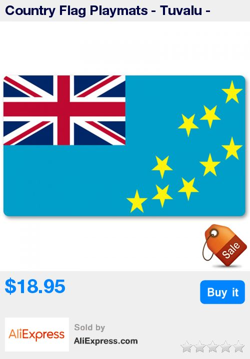 Country Flag Playmats - Tuvalu - Board Game Mat Table Mat Mouse Mat Mouse Pad 60 x 35CM * Pub Date: 03:55 Sep 14 2017
