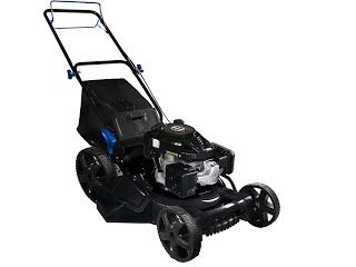 """Features & Benefits"" AAVIX AGT1321S 159CC Push 3-in-1 Gas Push Lawn Mower, 22"", Black/Blue"