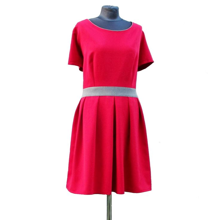 """Tsunami šaty """"Betty"""" červené vel.52"""