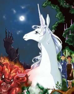 My favourite unicorn of all time from one of the best movies ever - The last unicorn. Loves it!