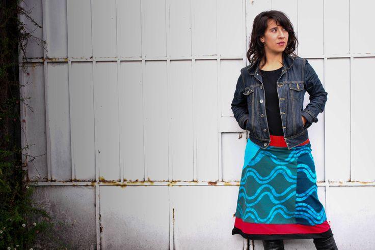 Falda pintada a mano en 100% algodón con la técnica del batik. Diseños exclusivos!!!