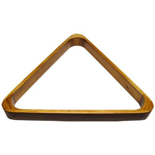 "Deluxe Wood Pool Ball Triangle, Oak by Sterling. $8.66. This triangle billiard ball rack is nicer than most. Made with quality, it will outlast your pool table. The finish is oak. It is made to rack standard 2-1/4"" pool balls."