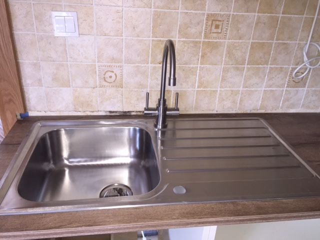 Sink and Brushed Steel Kitchen Tap Special offer from Kitchens4u.ie - Limited Quantities so order Today to avoid Disappointment.
