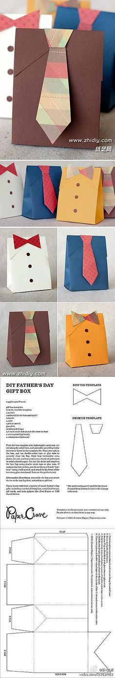 father's day shirt tie card template
