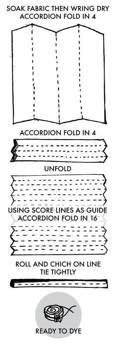 Tied Shibori Stripe Instructions