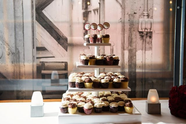 What a beautiful display of our cupcakes!