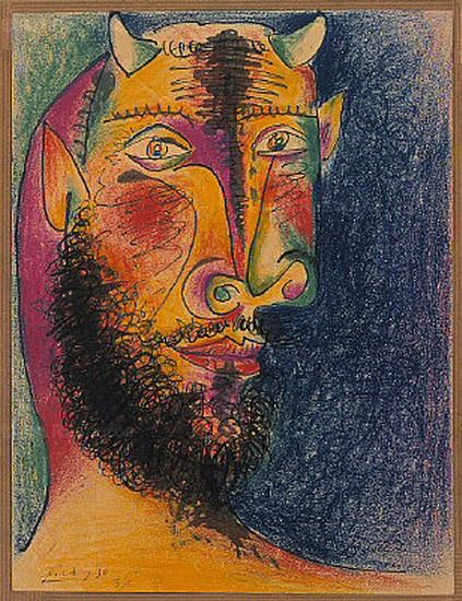 "Pablo Picasso - ""Head of Minotaur"", 1958"