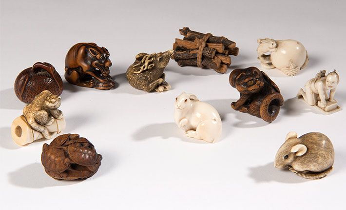Netsuke from the collection of Edmund de Waal, Magnificent Obsessions: The Artist as Collector