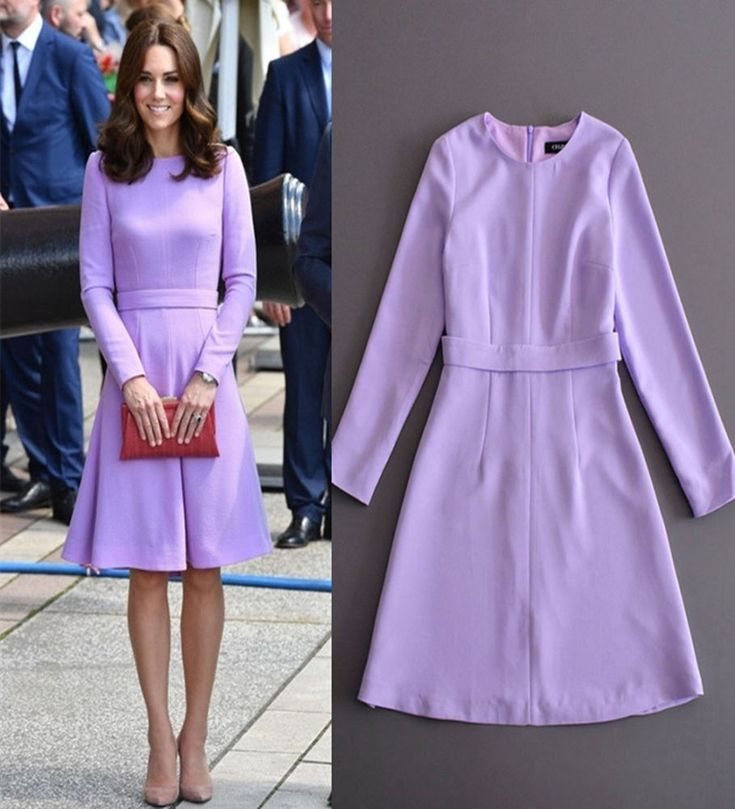 2017 New Celebrity Lavender Dress Long Sleeve Wear to Work Dress Plus Size XXL | Clothing, Shoes & Accessories, Women's Clothing, Dresses | eBay!