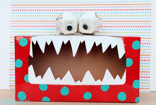 Murry the Tattle Monster... Write your tattles down and feed them to him!: Ideas, Valentines Boxes, Monsters Boxes, Tissue Boxes, Kleenex Box, Boxes Monsters, Monsters Crafts, Kids, Tattle Monsters