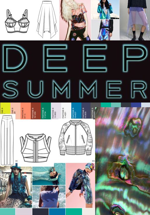 This is a collage of influences that will effect my work in my ways. I will be inspired by this collage & will use the colours & patterns in my fashion lineup. I will also be making changes to the flat drawings, but they are similar to the garments I will include in my lineup. My fashion lineup will be Spring/Summer 16 'Deep Summer' I really like this trend & will enjoy creating the lineup. Images sourced from WGSN website.   http://www.wgsn.com