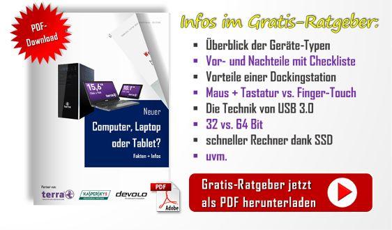 """""""Welches Gerät passt am besten für mich?"""" Diese Frage höre ich immer wieder von Kunden + Interessenten, die sich einen neuen #PC, #Laptop oder #Tablet kaufen wollen. Das lässt sich aber nicht pauschal beantworten. Hierzu finden Sie auf der Seite www.pc-laptop-oder-tablet.de #Tipps + #Infos. Dort gibt es auch eine #Info-#Broschüre - quasi einen #Ratgeber als #eBook - mit Vor- und Nachteilen der jeweiligen Geräte-Typen plus #Checkliste. Dieser lässt sich kostenlos als #PDF #herunterladen."""