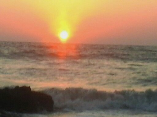 Sun set when i was there in goa
