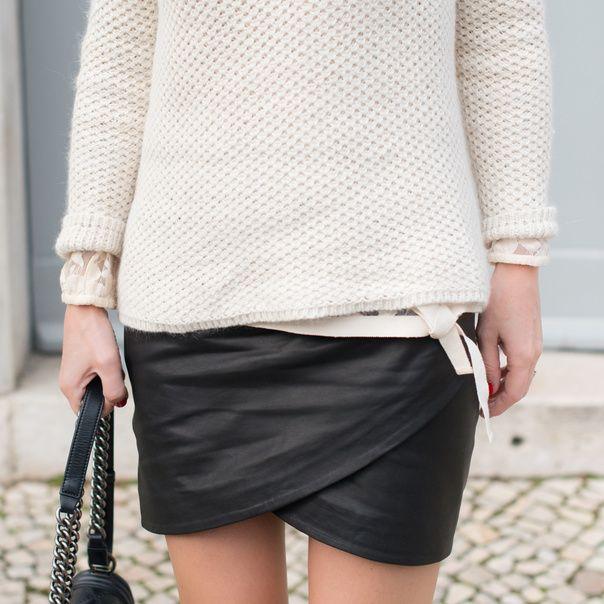 Ba&sh leather skirt coucou jupe de mes rêves, viens voir Pauline