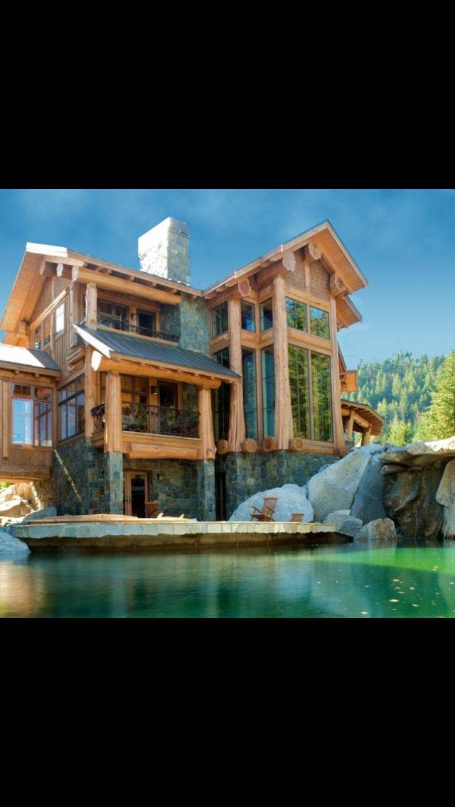 Pin von nicole bunting auf dream house pinterest for Log cabin portici e ponti
