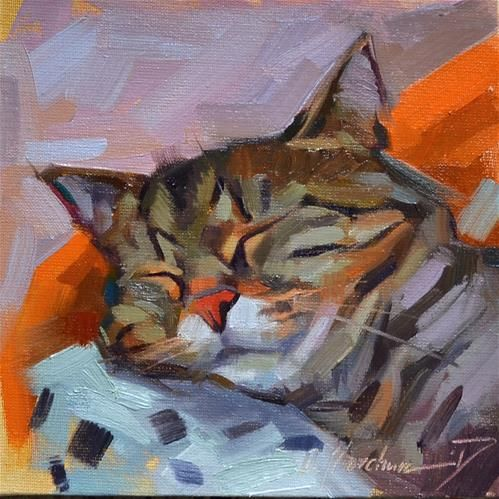 "Daily Paintworks - ""Sweet dreams"" - Original Fine Art for Sale - © Oleksii Movchun"