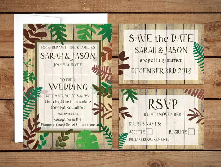 Botanical Garden Wedding InvitationsWedding Invitations to start your exciting adventure together