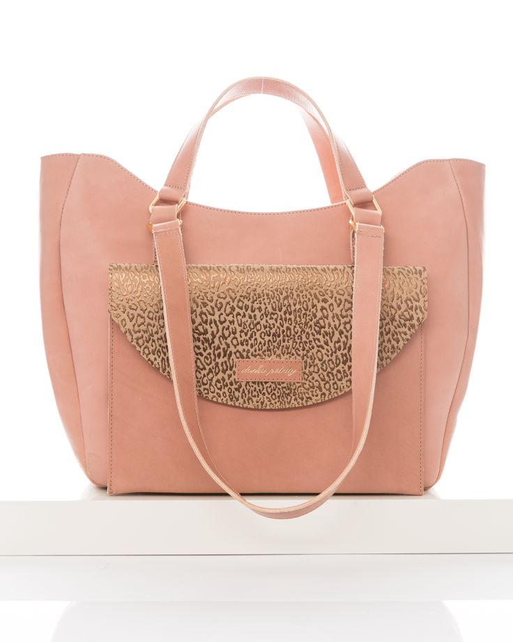 Dorka Petrity - 'Day-Down' tote bag with Nude-Ocelot clutch