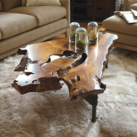 Teak Root Slab Coffee Table