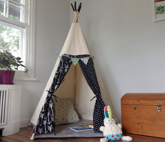 Teepee for kids hide away play tent for kids by BabillesetBabioles