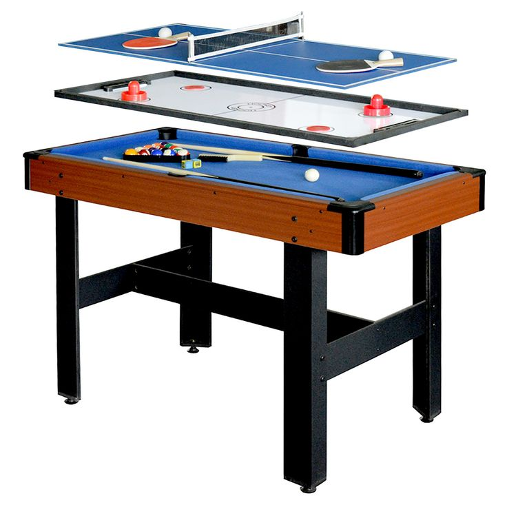 Exceptional Hathaway Triad 48 Inch 3 In 1 Multi Game Table