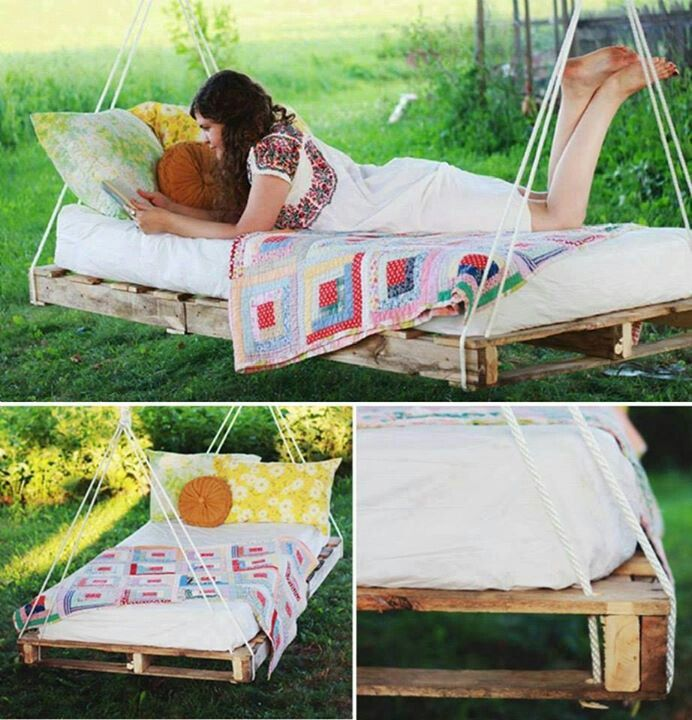 Pallet swing bed, add mosquito netting