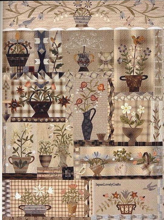 Bouquet floral tejido patrones acolchado por JapanLovelyCrafts