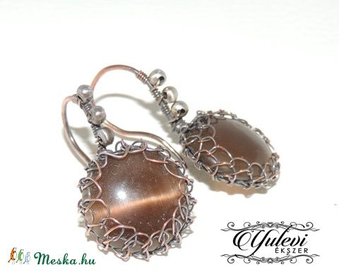 Macskaszem fülbevaló 16025 (Yuleviekszerek) - Meska.hu