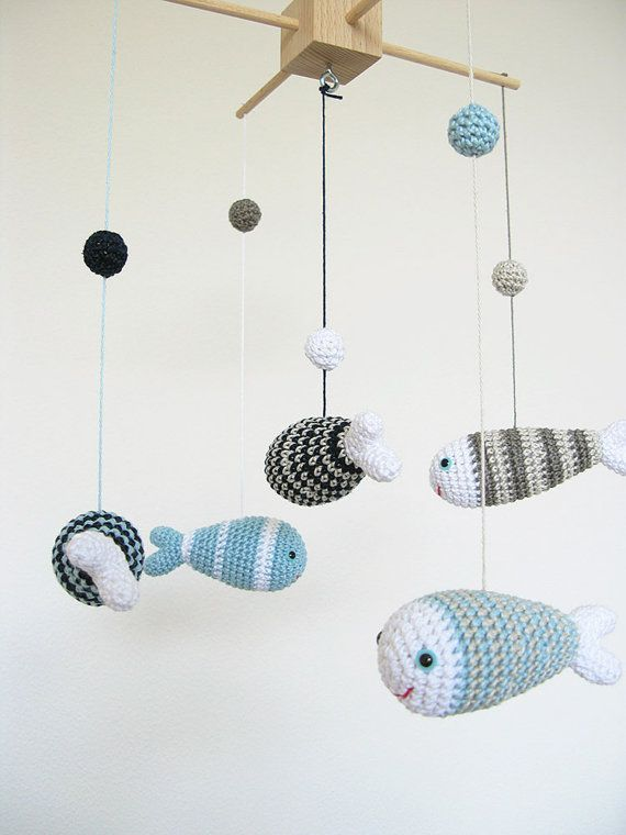 Crib Baby Mobile Nursery Decor Fish Ocean