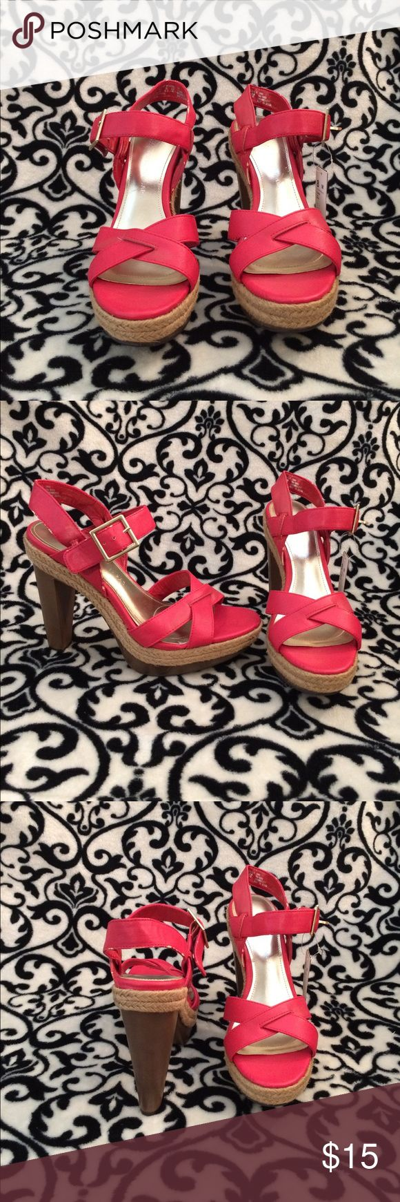 Sofia Vegara Coral Tara heels Absolutely beautiful l, tag still on, never been worn heels. Now due to the fact that I don't have the box a tiny bits that are not noticeable of the back strap has came off! Shoes Heels
