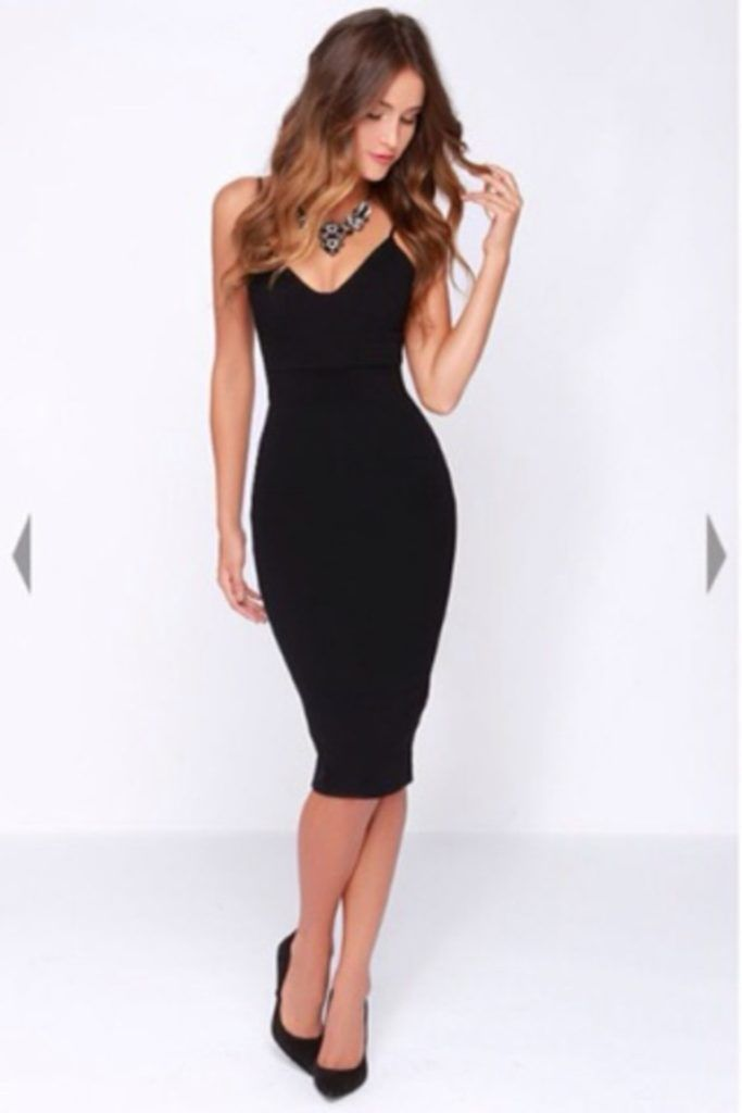 Classy Black Cocktail Dress Pictures
