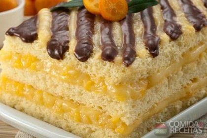 Receita de Pavê de laranja e chocolate