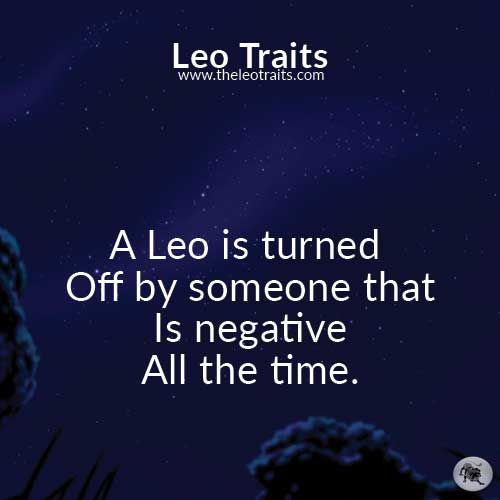 A Leo is turned off...