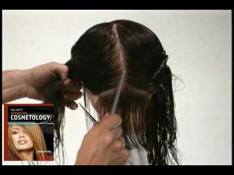 Milady's Standard Cosmetology: Haircutting Horizontal ...