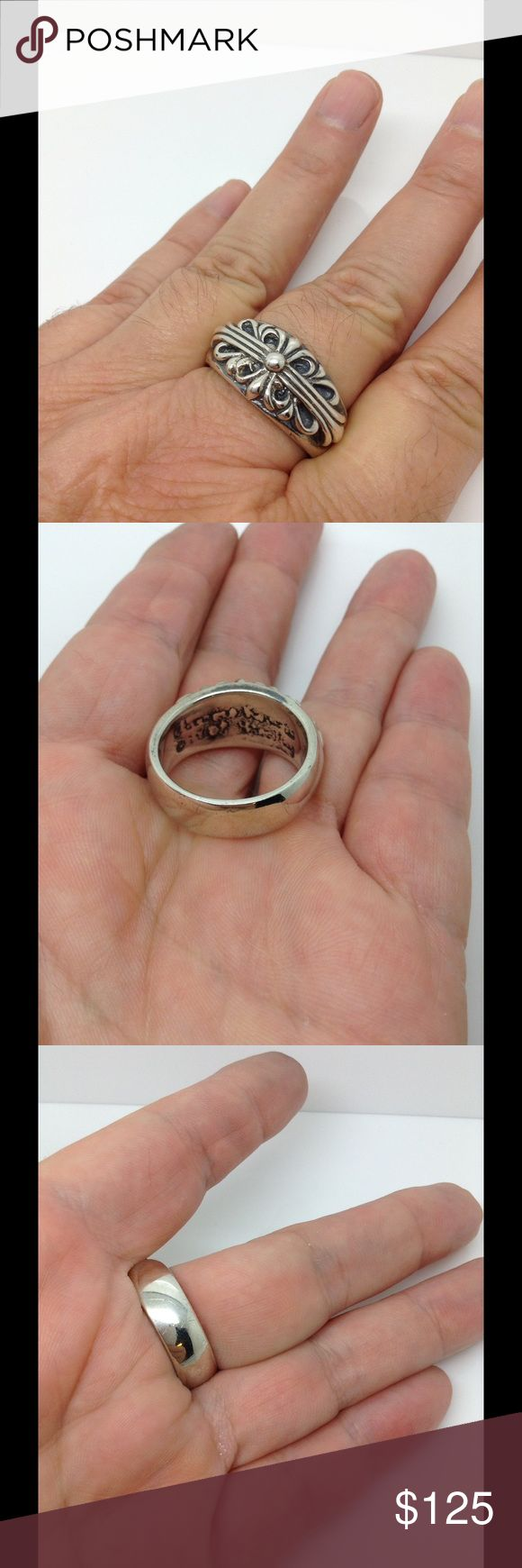 Chromes heart Sterling silver unisex ring band Firm price Chromes Jewelry Rings