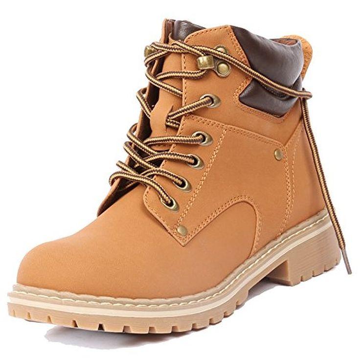 Original Women39s Knee High Lace Up Fashion Work Boots Lauren02H Wheat  EBay